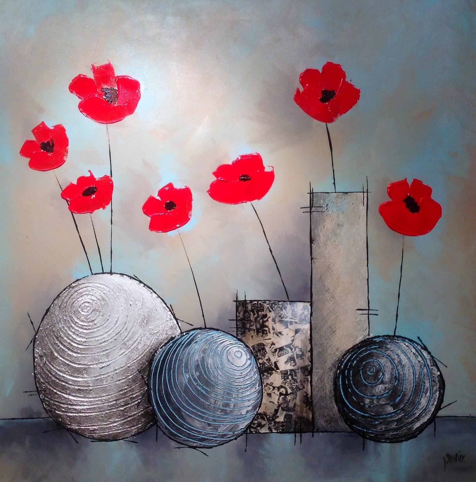 Silence cendré 100x100 acrylique et technique mixte sur toile